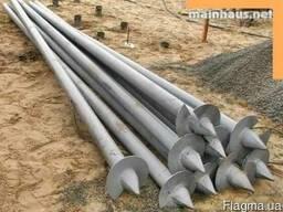 Винтовые сваи для укрепления фундамента 108*300*3500. Монтаж