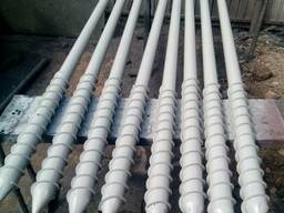 Винтовые сваи многовитковые диаметр 108 мм, длина 2,5 метра