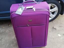 VIP 3D новый тканевый чемодан дорожный на 2-х колесах авиа