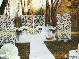 Вишукані об'ємні весільні арки, ширми, стійки та атрибутика