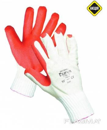 Високоміцні робочі трикотажні рукавички REDWING.