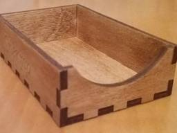 Визитница деревянная, лоток для визиток из дерева
