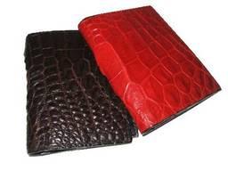 Визитница из кожи крокодила Красная () xtclthrcch01