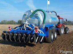 Внесение жидких удобрений, услуги по внесению удобрения