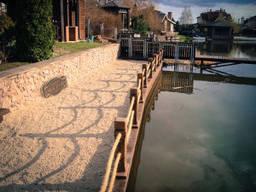 Строительство бассейна на даче, чистка дренажной системы