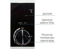 Водонагреватель Thermo Alliance Slim 80 л, сухой ТЭН 2х(0,8+1,2) кВт D80V20J(D)2-K