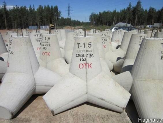 Тетрапод бетон цементным раствором марки м100