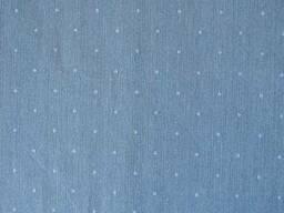 Вологостійка скатертина з акриловим покриттям Simfoni 136х180см Горошек на синьому. ..