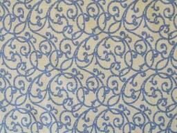Вологостійка скатертина з акриловим покриттям Simfoni 136х220см Синій вензель SKL58-252189