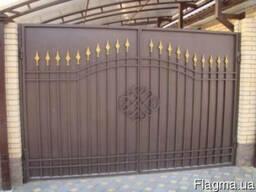 Ворота кованые - металлические изготовление тож любой сложно