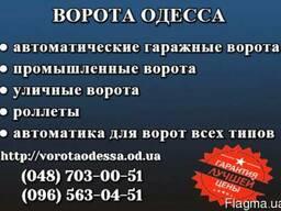 Ворота, автоматика, роллеты Одесса - Доступные цены