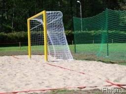 Ворота для пляжного футбола, разметка, сетки
