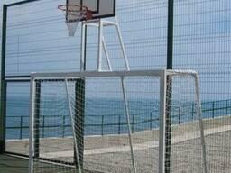 Ворота мини футбольные 3000х2000 в комплекте с баскетбольным