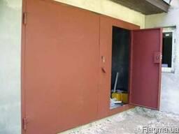 Ворота гаражные металлические изготовление и монтаж