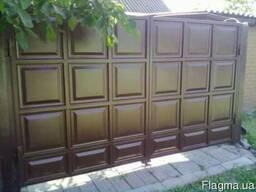 Ворота из профнастила - фото 5