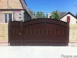 Ворота гаражные, распашные изготовление Донецк