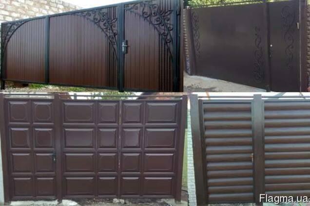 Ворота, калитки, заборы с установкой под ключ по Харькову