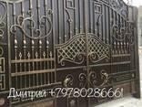 Ворота кованные, гладкие, распашные, откатные, гаражные - фото 1