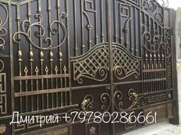 Ворота кованные, гладкие, распашные, откатные, гаражные