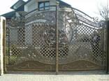 Ворота кованные, гладкие, распашные, откатные, гаражные - фото 2