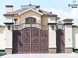 Ворота кованые калитки решетки заборы мебель ПДК Бастион