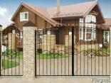 Ворота кованые - металлические изготовление тож любой сложно - фото 3