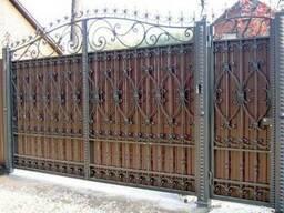 Ворота металлические и кованые изделия ограждения