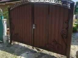 Ворота металлические с ковкой