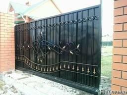 Ворота откатные распашные консольные гаражные
