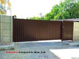 Ворота-профнастил, изготовление и монтаж.
