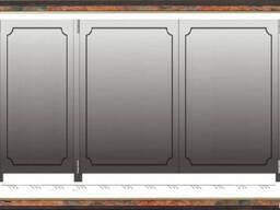 Ворота распашные, металлические, листовые/гладколистовые