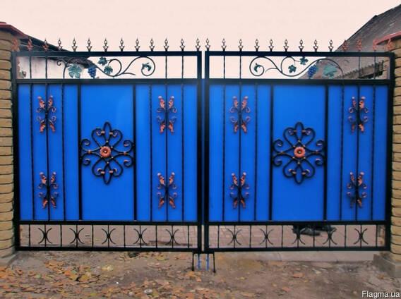 Ворота распашные от ЧП Теряник