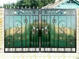 Ворота решетки оградки - фото 3