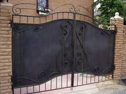 Ворота с калиткой из профлиста - фото 6