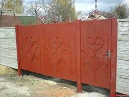 Ворота сварные из листа любой конфигурации