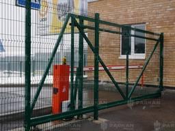 """Ворота відкатні """"ДУОС"""" 200х50мм 5,00мм/4,00мм/5,00мм 2,00м/5,00м оц. ПП RAL 6005 ЗЕЛЕНИЙ 2"""