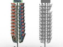Вращающаяся стойка  рекламная для полиграфии, журналов. ..