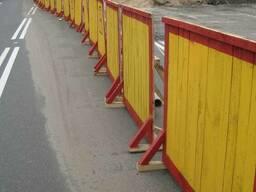Временный строительный забор 1х2м