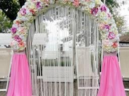 Свадебная арка. Оформление свадьбы, зала. фотозона