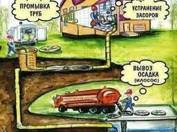Прочистка канализации Выкачка и чистка ям Илосос Киев и обл