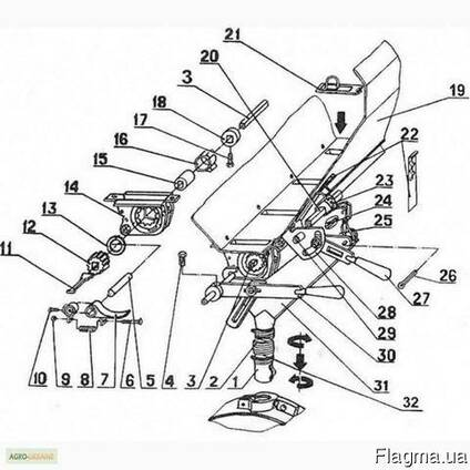 Высевающий аппарат СЗ-3,6 металлокерамика,
