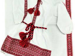 Вышитое платье на крещение для девочки