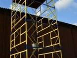 Вышка строительная на колесах с домкратами, передвижная тура - фото 3