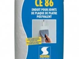 Высокопрочная шпаклевка(стык ГКЛ без лент)Semin CE 86: 25 кг