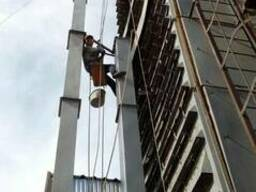 Высотные работы, замена норийных труб, демонтаж и монтаж