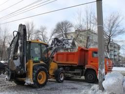 Вывоз снега. 30 т Киев и Киевская область. Аренда эксаватора JCB 3cx Киев
