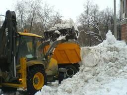 Вывоз снега цена. Вывоз снега с погрузкой в Киеве.