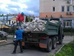 Вывоз строительного мусора, хлама. Песок отсев щебень -10т.