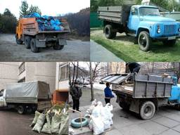 Вывоз строительного мусора, снос / демонтаж домов, грузчики