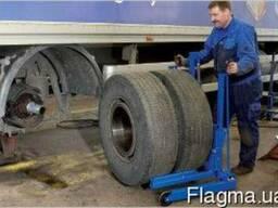 WTA500 Тележка для снятия колес грузовых автомо г/п 500кг